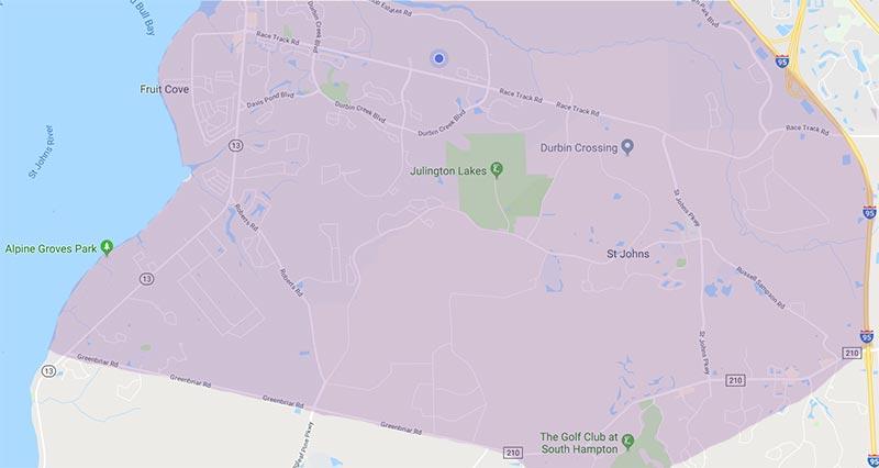 Map of Aberdeen, Bartram Springs, Durbin Crossing & Julington Creek