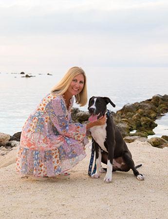 Charlotte Scott - Owner with bentley